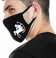 """Детская маска многоразовая (респиратор) защитная с принтом на лицо """"Стрелец"""" 2"""