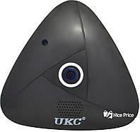 Панорамная потолочная VR IP WiFi камера UKC 3630 3mp 360° Black, фото 1