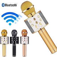 Микрофон-караоке W 858 Bluetooth беспроводной микрофон и динамик 2 в 1