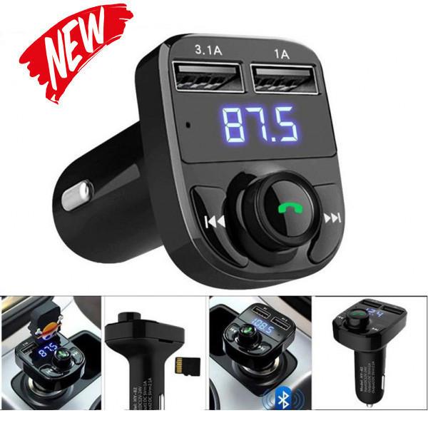 Автомобильный фм модулятор / fm трансмиттер X8, 2 usb + громкая связь, Bluetooth