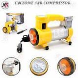 Автомобильный воздушный компрессор CYCLONE + фонарик, фото 2