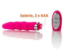 Элегантный розовый ребристый вибратор от Aphrodisia, фото 2