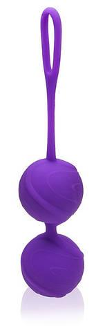 Вагинальные шарики для тренировок Odeco, premium Silicone Balls, фиолетовые, фото 2