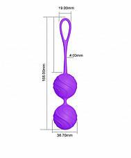 Вагинальные шарики для тренировок Odeco, premium Silicone Balls, фиолетовые, фото 3