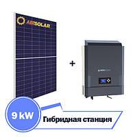 Гибридная станция 9 кВт на IMEON 9.12 (9 кВт, 3 фазы / 12 кВт DC, 48 В) + ABi-Solar АВ330
