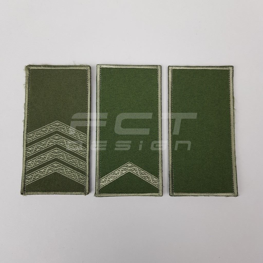 Погон НГУ Солдат, Старший солдат и Сержант