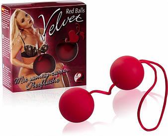 Вагинальные шарики Red Balls Velvet от Orion