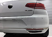 Накладки на задний бампер (имитация выхлопа) VW Passat B8