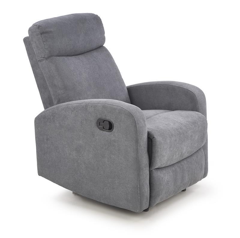 Крісло розкладне OSLO 1S темно сірий (Halmar)