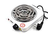 Электроплита WimpeX WX-100B плита настольная спиральная, фото 2