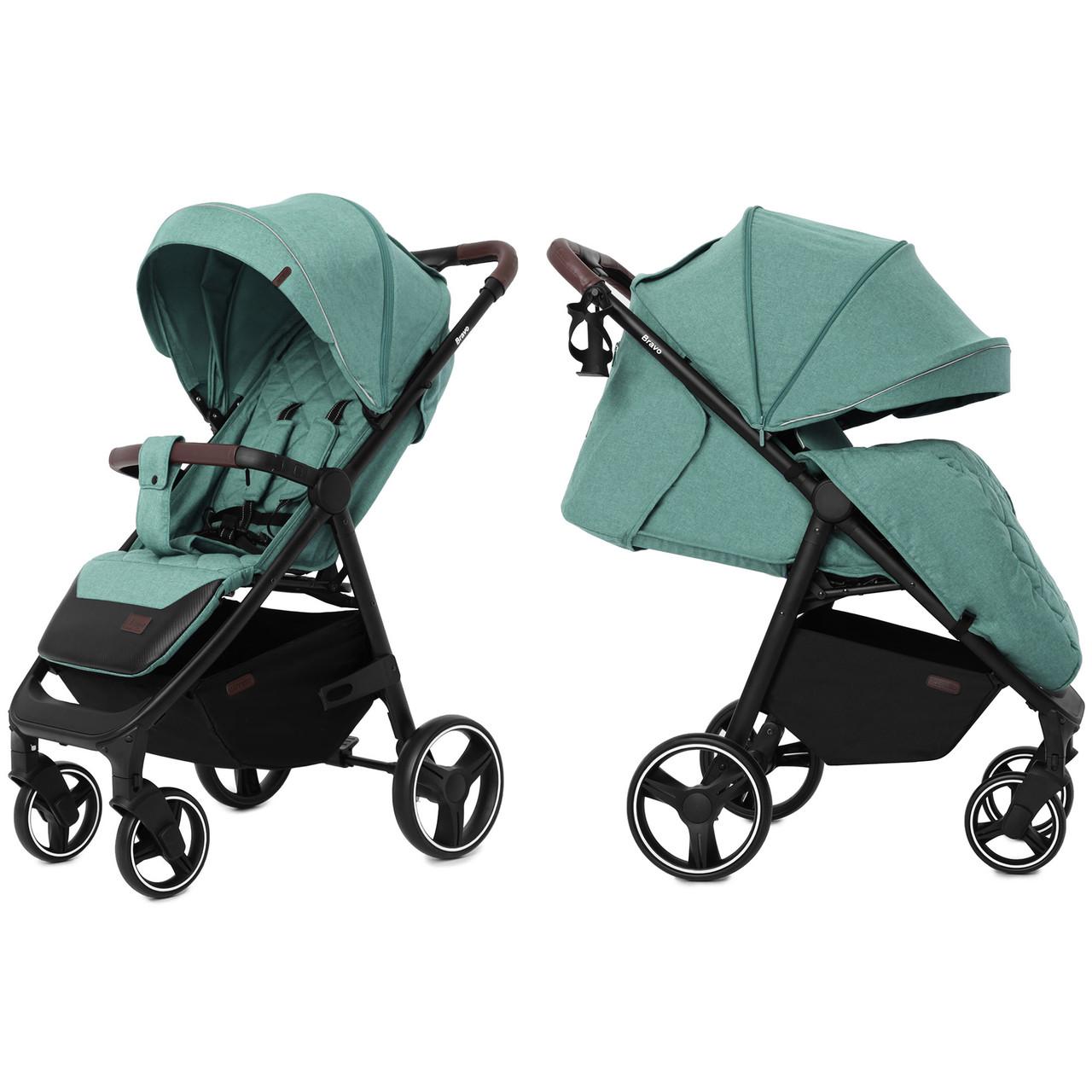 Детская прогулочная коляска Carrello Bravo CRL-8512 Basil Green +дождевик