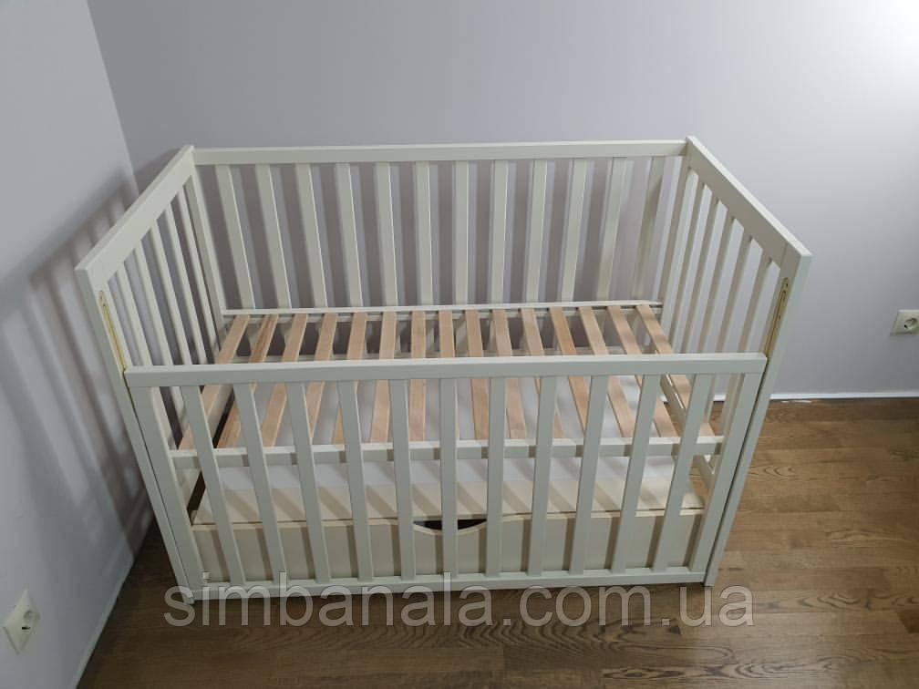 Кроватка для новорожденных (бежевая), Украина