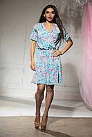 Лёгенькое платье с рукавом-фонариком, воланом на юбочке   (46-50), фото 1