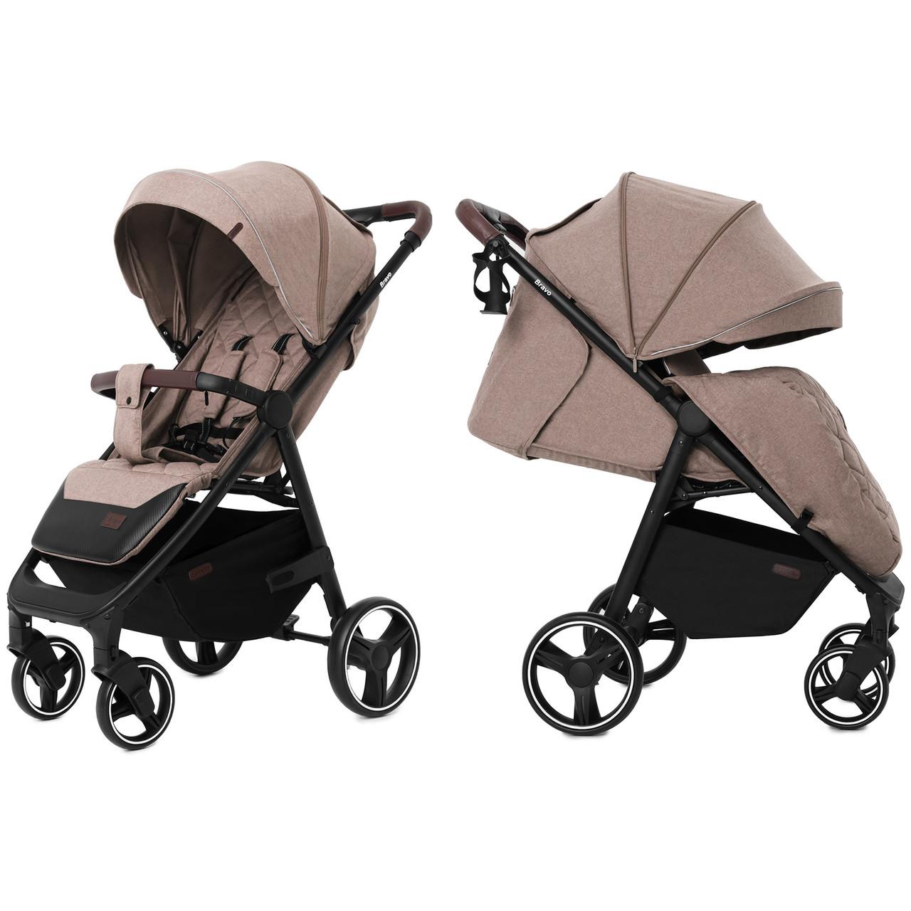 Детская прогулочная коляска Carrello Bravo CRL-8512 Linen Beige +дождевик