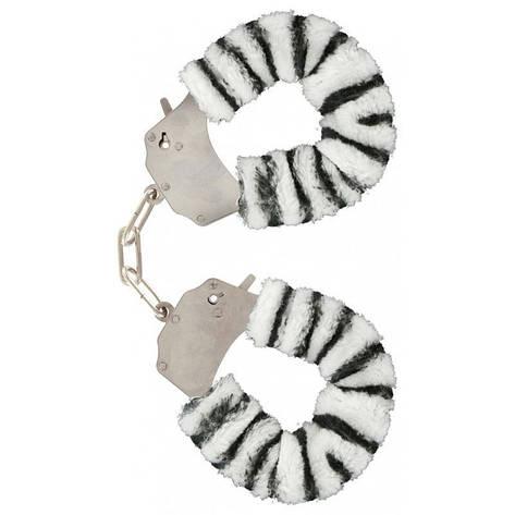 Качественные наручники Toy Joy (Голландия) Furry Fun, белые, фото 2