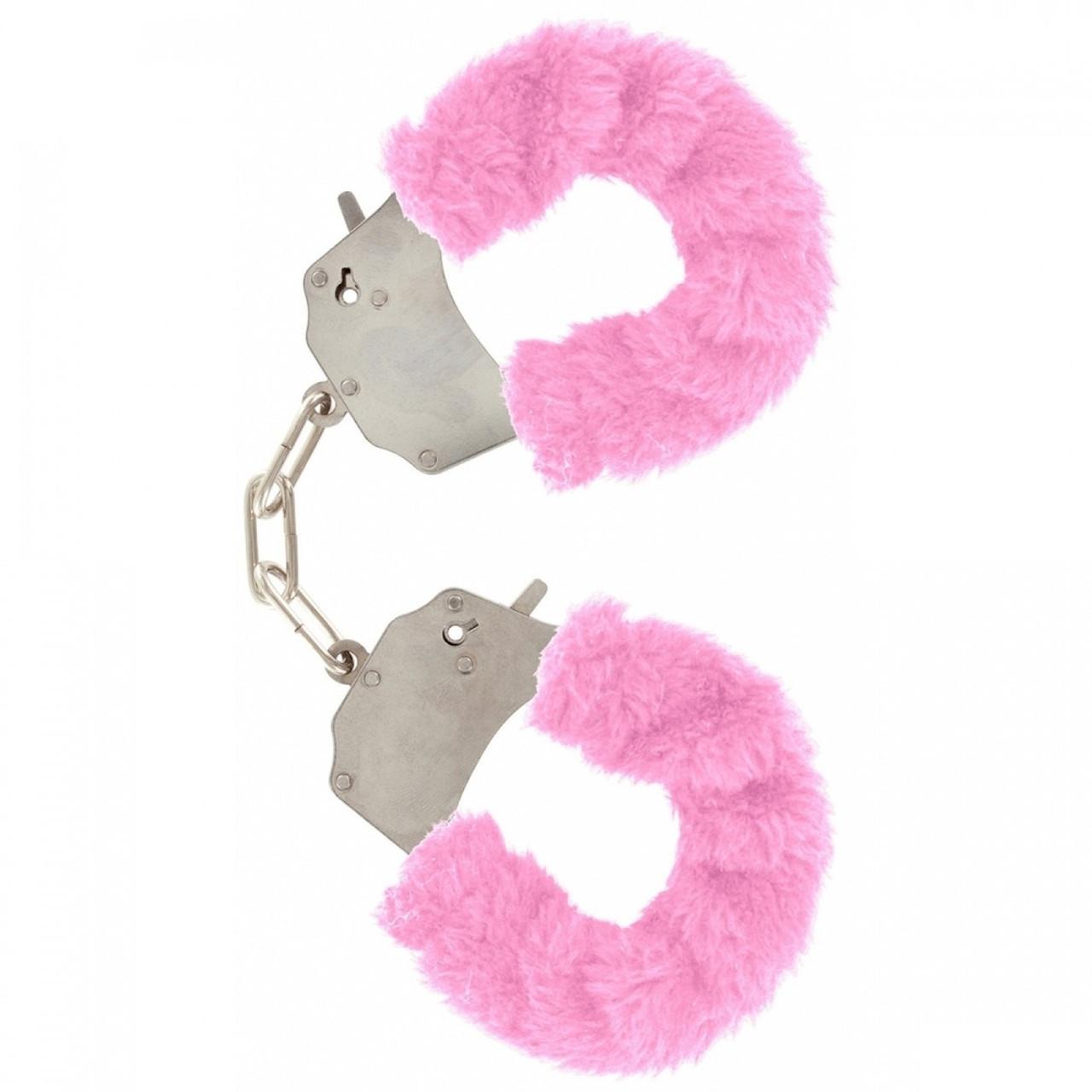 Качественные наручники Toy Joy (Голландия) Furry Fun, розовые