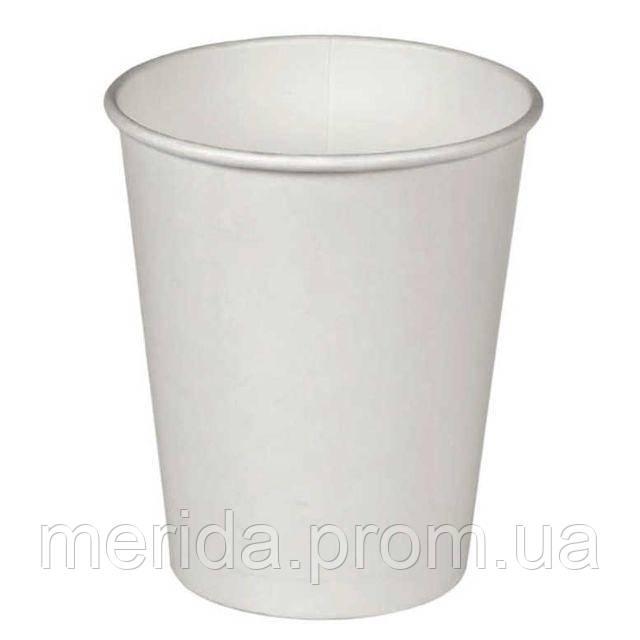 Бумажный стакан 175 мл «Белый» 212 г/м2 100 шт