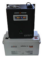 Комплект резервного питания ИБП Logicpower LPY-W-PSW-500 + АКБ LP-GL65 для 5-7ч работы газового котла, фото 1