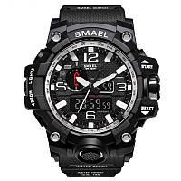 Smael 1545 чорні з білим чоловічі спортивні годинник, фото 1