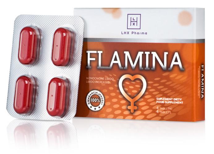 Flamina таблетки 4 шт, натуральный аналог женской Виагре