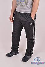 Брюки спортивные мужские из плащевки на флисе Adidas E2693 Размер:48