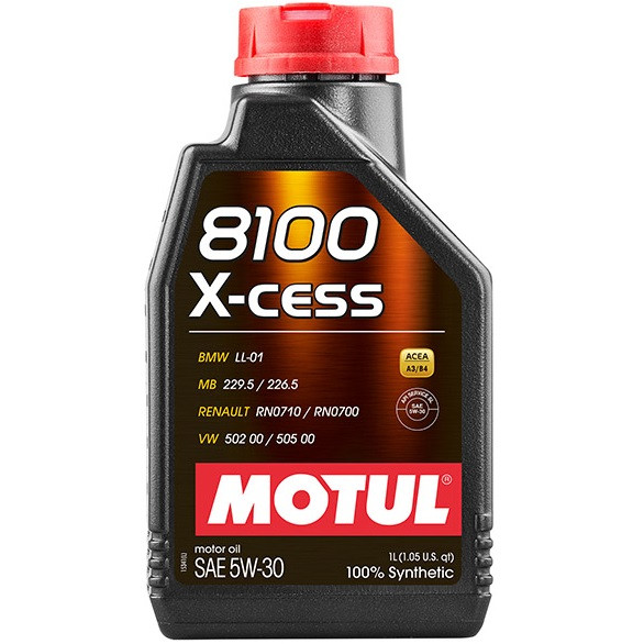 Масло моторное 100% синтетическое д/авто MOTUL 8100 X-cess SAE 5W30 1л. 108944/368101