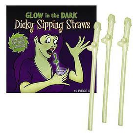 Трубочки для питья Penis-Straws Glowing