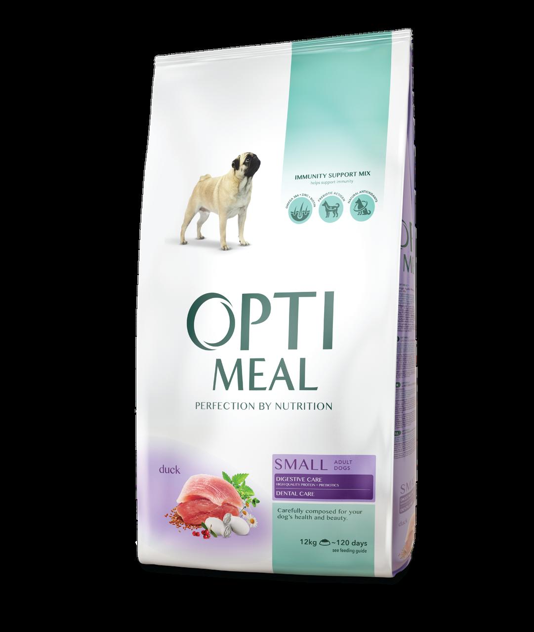 Сухой корм для взрослых собак малых пород Утка 12 кг OPTIMEAL ОПТИМИЛ