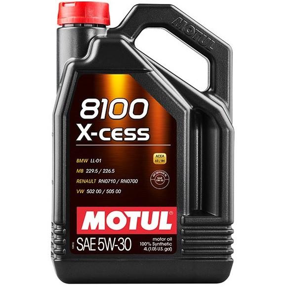 Масло моторное 100% синтетическое д/авто MOTUL 8100 X-cess SAE 5W30 4л. 108945/368107