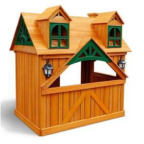 """Дитячий будиночок з дерева вуличний """"Котедж Люкс"""""""