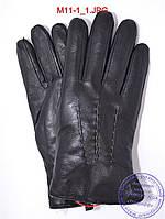 Мужские кожаные перчатки зимние на меху из натуральной овчины - №M11-1