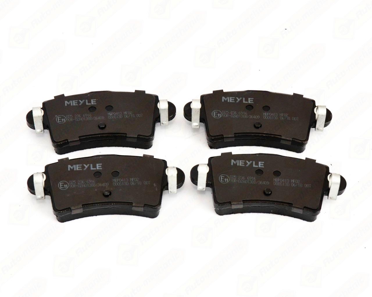 Тормозные колодки задние на Renault Master II 1998->2010 — Meyle (Германия) - 0252366916