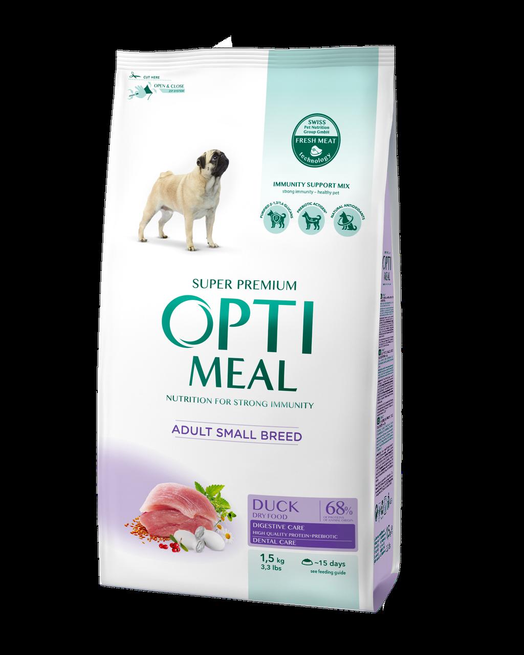 Сухой корм для взрослых собак средних пород Индейка 1,5 кг OPTIMEAL ОПТИМИЛ