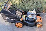 Потужна акумуляторна безщіткова газонокосарка Redback 106648 120 V з акумулятором 2 А год, фото 2