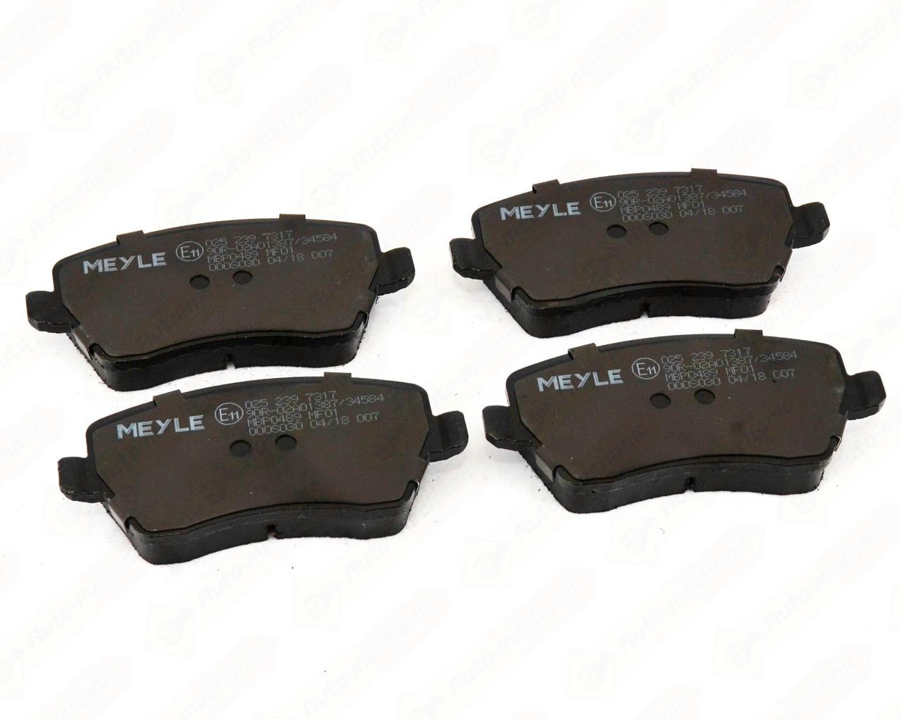 Дискові гальмівні колодки (передні) на Renault Kangoo II 2008-> — Meyle - 0252397317