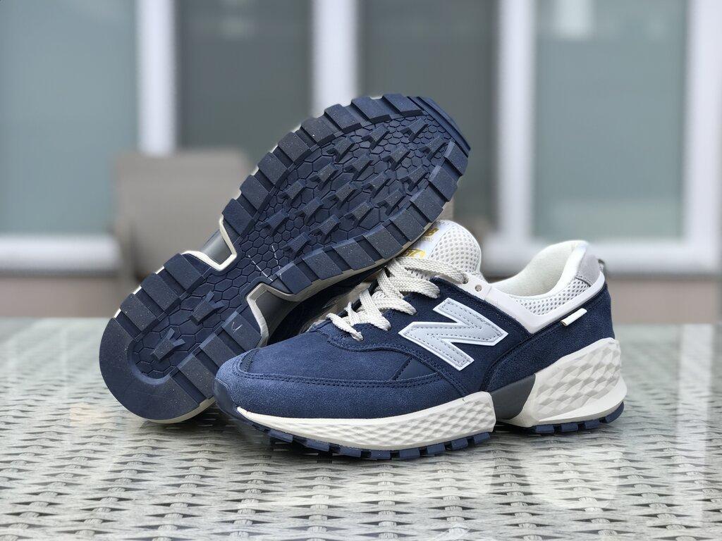 Замшеві чоловічі сині кросівки New Balance 574