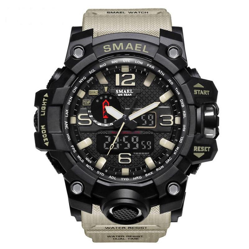 Smael 1545 хакі чоловічі спортивні годинник