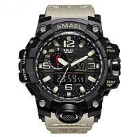 Smael 1545 хакі чоловічі спортивні годинник, фото 1