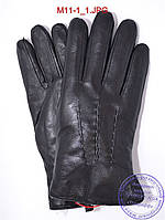 Оптом мужские кожаные перчатки зимние на меху из натуральной овчины - №M11-1