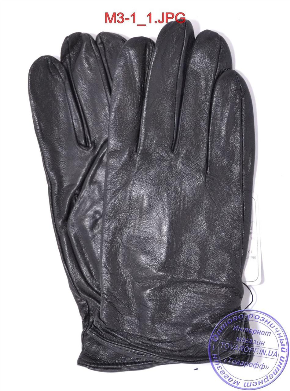 Мужские кожаные перчатки демисезонные  - №M3-1