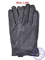 Мужские кожаные перчатки с плюшевой подкладкой  - №M3-2, фото 1