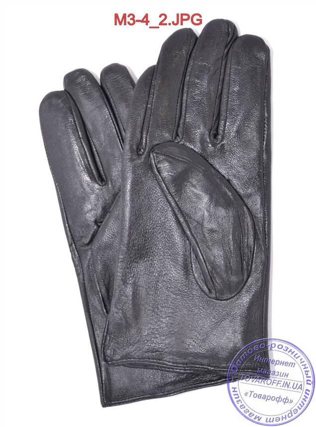 Оптом мужские кожаные перчатки с плюшевой подкладкой  - №M3-4, фото 2