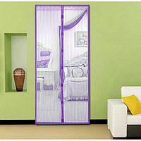 Антимоскитная штора на дверь на магнитах Magic Mesh Фиолетовая