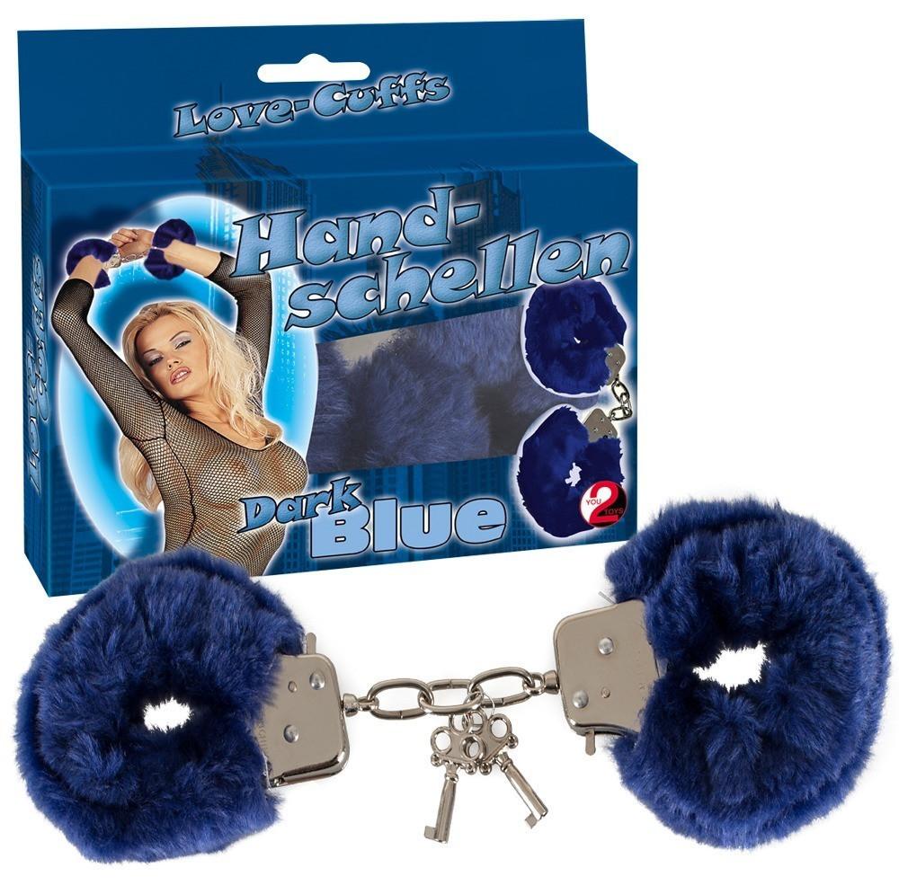 Качественные наручники Love Cuffs Dark Blue