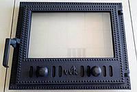 Печные дверцы с термостойким стеклом VVK11 400х500 мм