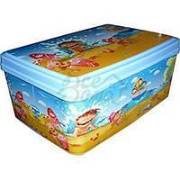 Коробка для вещей с крышкой 5,5л прямоуг № 3 200/280/120мм Морские каникулы ELIF