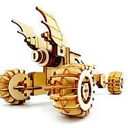 Деревянный конструктор машина Bat Mobile 3D пазл 171 элемент, фото 3