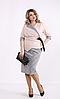 Костюм жіночий спідниця з контрастною блузкою, з 42 по 74 розмір