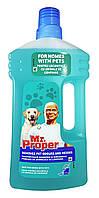 Моющая жидкость для полов и стен Mr. Proper Для домов с домашними животными -  1л.