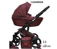 Универсальная коляска 2в1 Mikrus Comodo Silver 13 Bordo